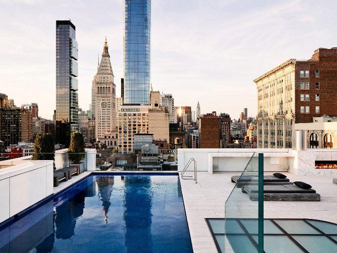Пентхаус в нью-йорке с бассейном недвижимость в хорватии фото